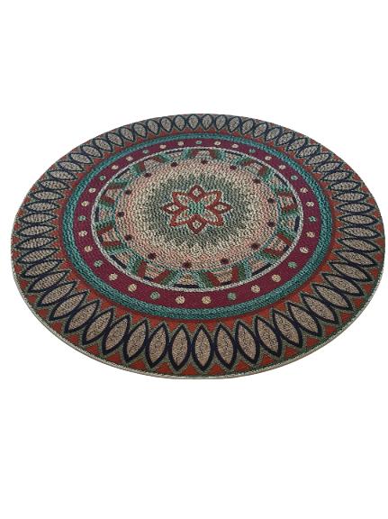 alfombra mandala meditacion