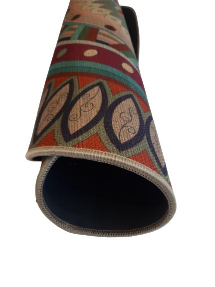 alfombra mandala meditacion enrollada